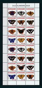 [SUV2380] Suriname 2010 Insects butterflies papillons Miniature sheet MNH