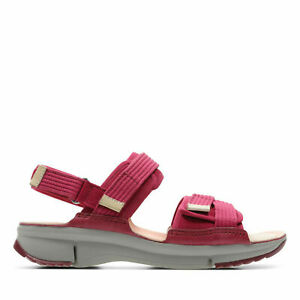 Clarks BNIB Ladies Sandals TRI WALK Berry Combi UK 7.5 / 41.5