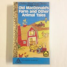 Old MacDonald's Farm & Other Animal Tales. VHS Video Tape Golden Book Scarry