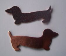 12X Copper Blanks for enameling use- DACHSHUND DOG shape