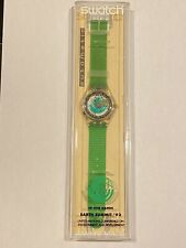 "Vintage SWATCH Watch ""Time to Move"" SAK102 1992 AUTOMATIC NEON New Old Stock"