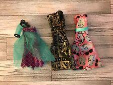 Monster High Doll 3 Dress Bundle Excellent Condition