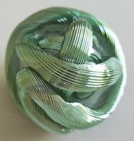 Metallic Green Twisted Love Knot Collectible Art Piece Paperweight 4""