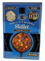 Chocolate Brownie Skillet Baking Kit With Cast Iron Skillet Pan, Mallows & M&M's