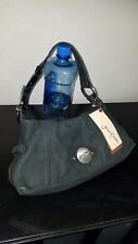 NWT JUNIOR DRAKE Black Nubuck Leather RAYLENE Buckle Hobo Bag $168