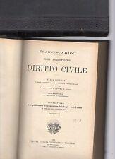 corso teorico-pratico di diritto civile - avv.francesco ricci - volume I°-2 tomi