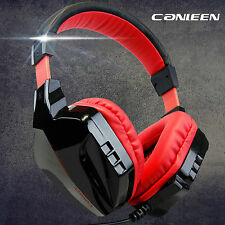 Red LED CT-820 Gaming Headphone Headset With MIC For PC Laptop DOTA FIFA LOL CS