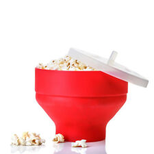 SILICONE POPCORN MAKER, MICROWAVE CORN POPPER, Healthy, Easy to Use, Collapsible