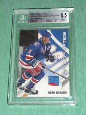 01-02 BAP Ultimate Memorabilia MARK MESSIER 18/50 3CLR Nameplates Patch BGS 8.5