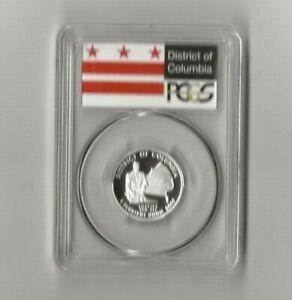 2009 s silver District of Columbia quarter PCGS PR 69 DCAM (flag label)