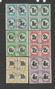 South West Africa 1961 Postage Dues VFU/CTO block s 4 SG D57/62