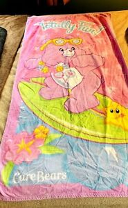 Vintage Care Bears Share Bear TV Show Pink 30x56 Beach Towel 2006 Franco CUTE!
