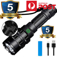 20000lm USB Rechargeable Super Powerful LED Flashlight EDC Torch Camping Light
