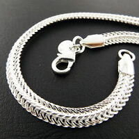 A801 GENUINE REAL 925 STERLING SILVER S/F SOLID ANTIQUE STYLE BRACELET BANGLE