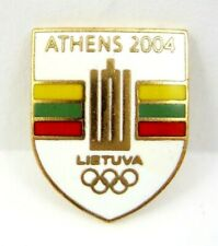 2004 Athens Summer Olympic Games Lithuania NOC Olympic Pin Badge