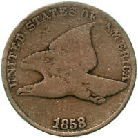 1858 Flying Eagle Cent Large Letters Good Penny GD