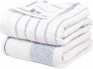 Bloom Imabari Towel Natural Border Bath Towel 2 Pieces Set