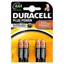 Duracell Batteries 4 x AAA Plus Power Battery Alkaline LR03 1.5V MN2400