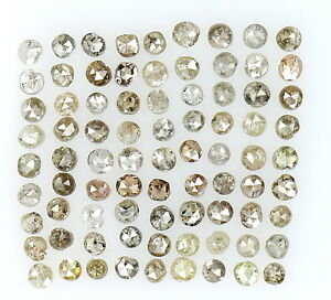 Natural Loose Diamond Round Shape Fancy Brown Mix Colour I2 Clarity 1.00 Ct Q54