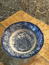 "Liberty Blue Round Vegetable 8.5"" Serving Bowl Staffordshire Fraunces Tavern EXC"