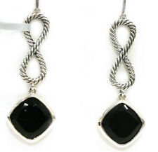 DAVID YURMAN NEW Black Onyx Earrings Figure 8 Sterling Silver