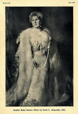 Bildnis der Gräfin S. Professor Walter Petersen Historische Memorabile von 1908