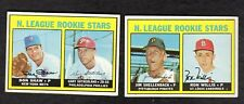 1967 TOPPS BASEBALL LOT OF TWO ROOKIE HIGH NUMBER CARDS  587  592