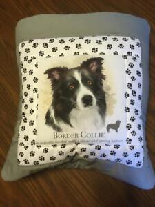 New Handmade Border Collie Quillow (Pillow w/ 6ft long quilt inside!)
