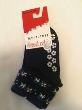 Red Robin Baby Socks with grip on bottom Size 1-2 (6 to 12 months) New