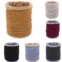 1pc Soft Men Women Scarf Winter Warm Cotton Scarves Knitted Collar Snood Velvet
