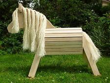 65cm Holzpferd Holzpony Voltigierpferd Pferd Pony unlasiert NEU !!!