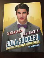DARREN CRISS (Versace) & Daniel Radcliffe Souvenir Program HOW TO SUCCEED