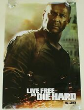 LIVE FREE OR DIE HARD DS MOVIE POSTER ONE SHEET NEW AUTHENTIC