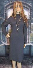Garnet Hill Heather Gray 100% Merino Wool Sweater Dress Size XS Super Soft.