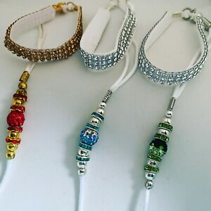 Special offer 2 x show lead toy breeds bling / rhinestone show leads
