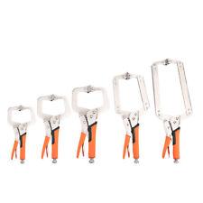 C Clamp 6-18inch Vise Grip Locking Welding Quick Pliers Wood Tenon Locator