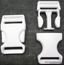 Cierre tipo mochila, blanco, pasador de 30 mm
