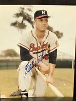 Eddie Mathews Braves HOF Signed Autographed Color 8 X 10 MLB Photo