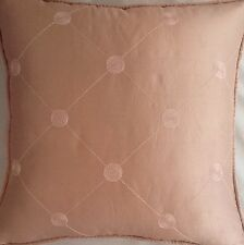 A 16 Inch cushion cover in Laura Ashley Lucille Silk Chalk Pink fabric