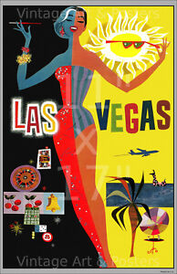 Las Vegas - 11x17 inch Vintage Airline Travel Poster