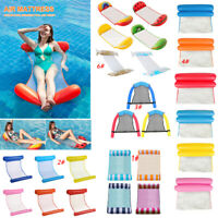Summer Swimming Pool Toy Hammock Lounge Inflatable Water Floating Bed Mat Chair