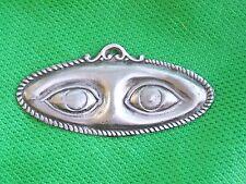 Large Tin/Silver Eyes Milagro Ex Voto