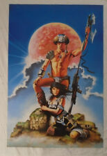 Galaxy Survivor Science Fiction Outer Space Warrior 1985 Poster Athena London