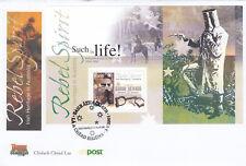 (18732) Ireland FDC Rebel Spirit Irish Heritage Australia minisheet 3 May 2001