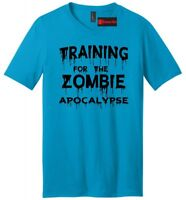 Training For The Zombie Apocalypse Funny Mens V-Neck T Shirt Workout Gym Tee