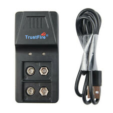 USB Battery Li-ion Lithium Rechargeable 9V Rechargeable Battery Charger