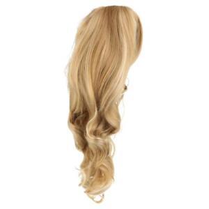 Ash Blonde High Density Long Synthetic Hair Weave Full Wigs for Women