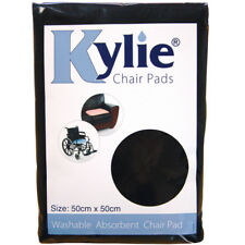Kylie Chair Pads | Black 1 Litre 50 X 50cm Washable Absorbent Premium...
