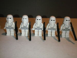 Lego Star Wars Minifigure Lot Hoth Imperial Snow Trooper Lot of 5