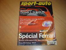 Sport Auto N°399 Fiat Barchetta.Ferrari 456 GT.911 Turbo / Ferrari F512 M.F50